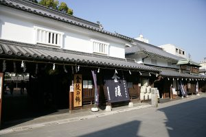 「金陵の郷」は酒造りに関する歴史や文化を伝える資料館。