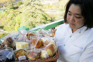北川村のゆずを使ったパンを始め、手づくり工房で作られたパン。