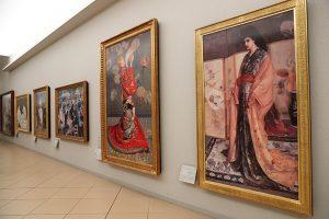 ルノワールやマネなど近代の作品が並ぶ近代ギャラリー