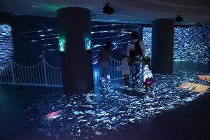 タッチや音で様々に変化する「LEDデジタルアート作品」