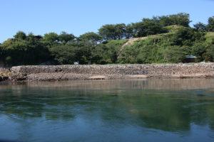 水軍の本拠地があった能島