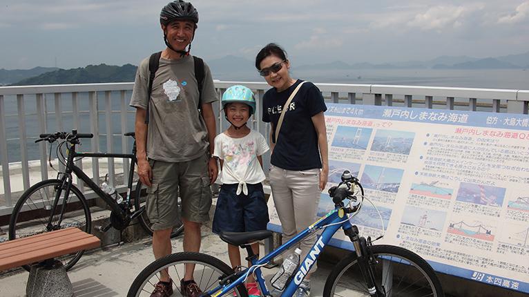 親子でのんびりサイクリング