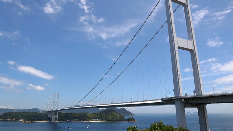 雄大な来島海峡大橋