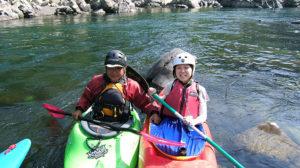 四万十川でカヌー体験