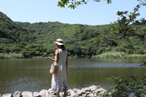 龍王神社の奥にある龍神池