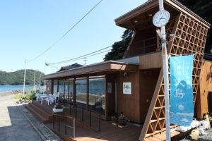 大島テラス、食事や休憩、レンタサイクリングの拠点になっている