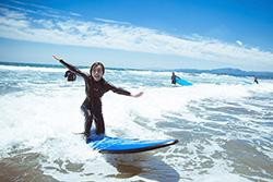 入りの浜でのサーフィン体験