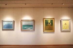 季節ごとに洋画や日本画の名品が展示される